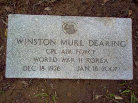 "DEARING (VETERAN 2 WARS), WINSTON MURL ""BLACKIE"" - Cross County, Arkansas 
