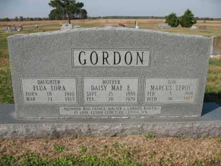 GORDON, ELUA LORA - Cross County, Arkansas | ELUA LORA GORDON - Arkansas Gravestone Photos