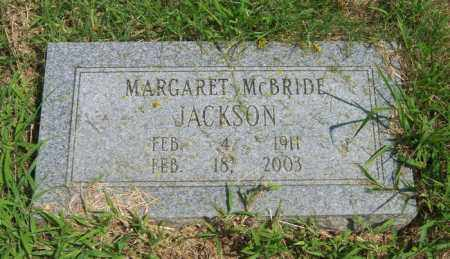 MCBRIDE JACKSON, MARGARET - Cross County, Arkansas | MARGARET MCBRIDE JACKSON - Arkansas Gravestone Photos