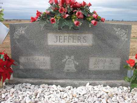 JEFFERS, EDNA W - Cross County, Arkansas | EDNA W JEFFERS - Arkansas Gravestone Photos