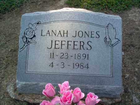 JEFFERS, LANAH - Cross County, Arkansas | LANAH JEFFERS - Arkansas Gravestone Photos