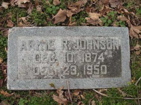 JOHNSON, ARKIE R - Cross County, Arkansas   ARKIE R JOHNSON - Arkansas Gravestone Photos