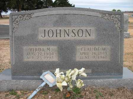 JOHNSON, CLAUDE W - Cross County, Arkansas   CLAUDE W JOHNSON - Arkansas Gravestone Photos