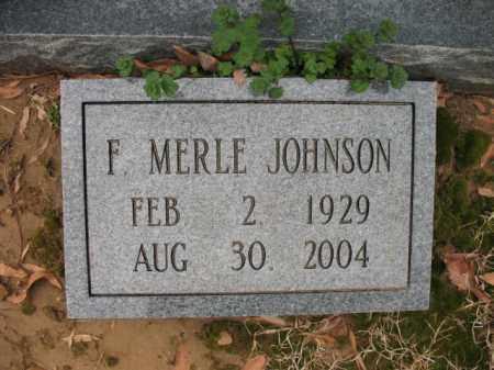 JOHNSON, F MERLE - Cross County, Arkansas   F MERLE JOHNSON - Arkansas Gravestone Photos