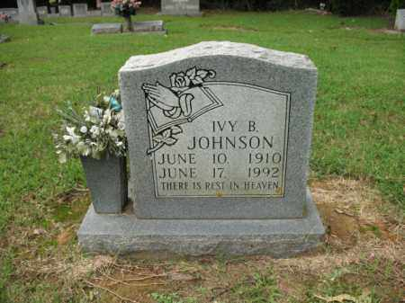 JOHNSON, IVY B - Cross County, Arkansas | IVY B JOHNSON - Arkansas Gravestone Photos