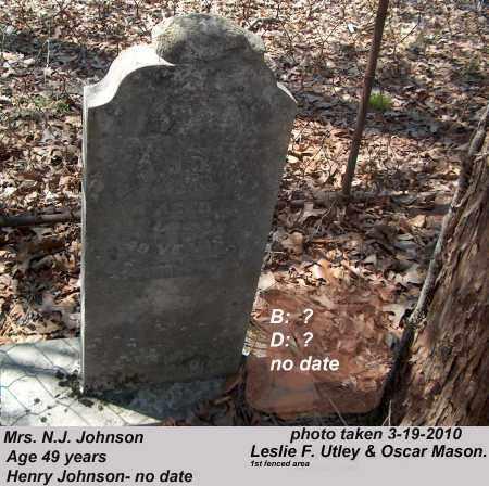 JOHNSON, N.J. - Cross County, Arkansas | N.J. JOHNSON - Arkansas Gravestone Photos