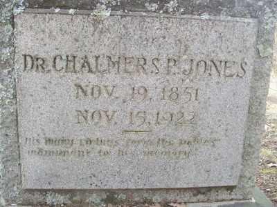 JONES, CHALMERS P., DR - Cross County, Arkansas | CHALMERS P., DR JONES - Arkansas Gravestone Photos
