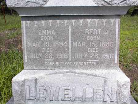 LEWELLEN, EMMA - Cross County, Arkansas | EMMA LEWELLEN - Arkansas Gravestone Photos