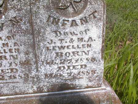 LEWELLEN, INFANT DAUGHTER - Cross County, Arkansas | INFANT DAUGHTER LEWELLEN - Arkansas Gravestone Photos