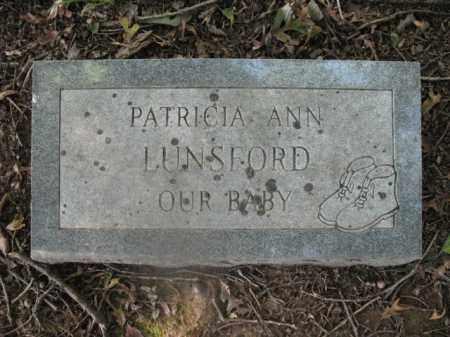 LUNSFORD, PATRICIA ANN - Cross County, Arkansas | PATRICIA ANN LUNSFORD - Arkansas Gravestone Photos