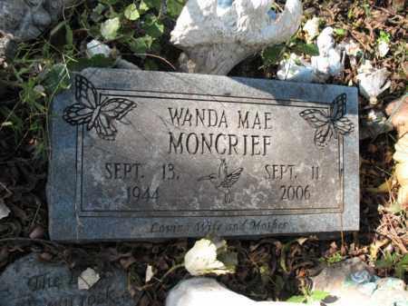 MONCRIEF, WANDA MAE - Cross County, Arkansas | WANDA MAE MONCRIEF - Arkansas Gravestone Photos