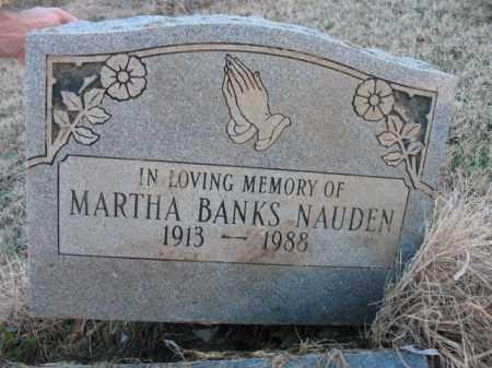 BANKS NAUDEN, MARTHA - Cross County, Arkansas   MARTHA BANKS NAUDEN - Arkansas Gravestone Photos