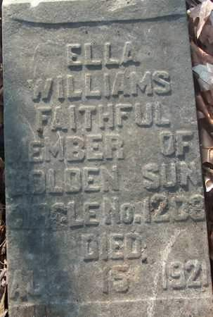 WILLIAMS, ELLA - Cross County, Arkansas | ELLA WILLIAMS - Arkansas Gravestone Photos