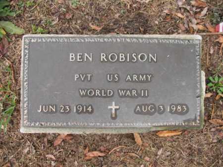 ROBISON (VETERAN WWII), BEN - Cross County, Arkansas   BEN ROBISON (VETERAN WWII) - Arkansas Gravestone Photos