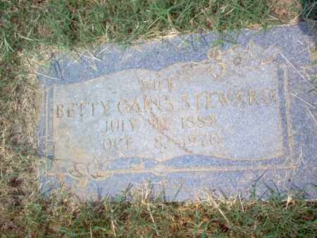 GAINS STEWARD, BETTY - Cross County, Arkansas | BETTY GAINS STEWARD - Arkansas Gravestone Photos