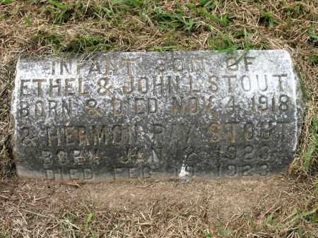 STOUT, INFANT SON - Cross County, Arkansas   INFANT SON STOUT - Arkansas Gravestone Photos
