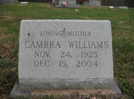 WILLIAMS, CAMBRA - Cross County, Arkansas | CAMBRA WILLIAMS - Arkansas Gravestone Photos