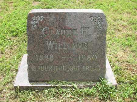 WILLIAMS, CLAUDE H - Cross County, Arkansas | CLAUDE H WILLIAMS - Arkansas Gravestone Photos