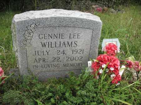 WILLIAMS, GENNIE LEE - Cross County, Arkansas | GENNIE LEE WILLIAMS - Arkansas Gravestone Photos