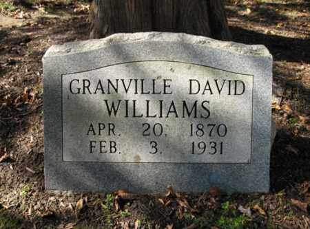 WILLIAMS, GRANVILLE DAVID - Cross County, Arkansas | GRANVILLE DAVID WILLIAMS - Arkansas Gravestone Photos