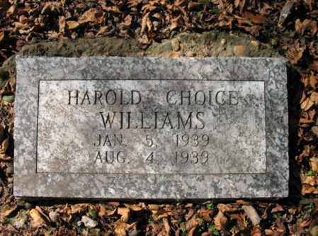 WILLIAMS, HAROLD CHOICE - Cross County, Arkansas | HAROLD CHOICE WILLIAMS - Arkansas Gravestone Photos