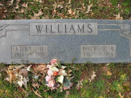 WILLIAMS, HAYWOOD A - Cross County, Arkansas | HAYWOOD A WILLIAMS - Arkansas Gravestone Photos