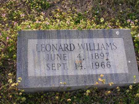WILLIAMS, LEONARD - Cross County, Arkansas | LEONARD WILLIAMS - Arkansas Gravestone Photos