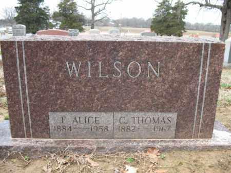WILSON, C THOMAS - Cross County, Arkansas | C THOMAS WILSON - Arkansas Gravestone Photos