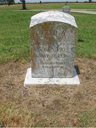 WILSON, FRED A - Cross County, Arkansas   FRED A WILSON - Arkansas Gravestone Photos