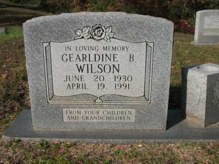 WILSON, GEARLDINE B - Cross County, Arkansas | GEARLDINE B WILSON - Arkansas Gravestone Photos