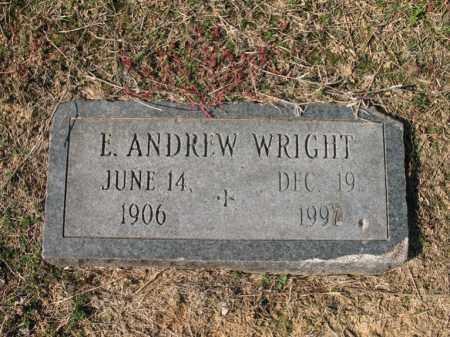 WRIGHT, E ANDREW - Cross County, Arkansas | E ANDREW WRIGHT - Arkansas Gravestone Photos