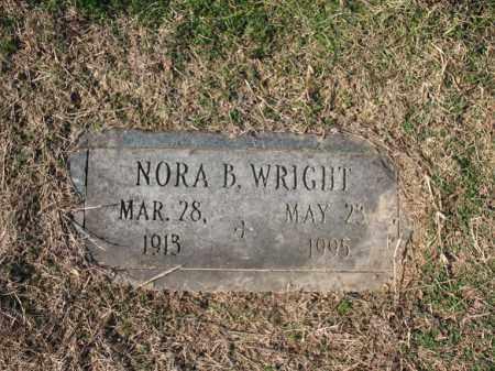 WRIGHT, NORA B - Cross County, Arkansas | NORA B WRIGHT - Arkansas Gravestone Photos