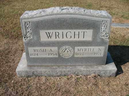 WRIGHT, RUSH A - Cross County, Arkansas | RUSH A WRIGHT - Arkansas Gravestone Photos
