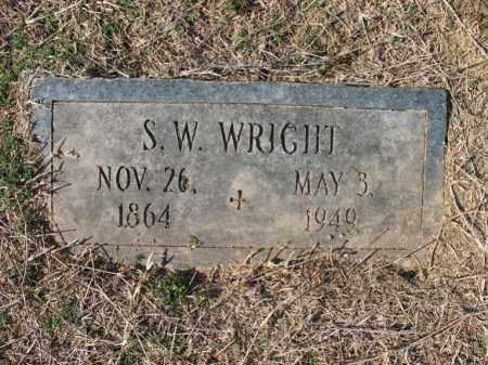 WRIGHT, S W - Cross County, Arkansas   S W WRIGHT - Arkansas Gravestone Photos
