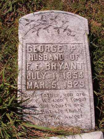 BRYANT, GEORGE P - Dallas County, Arkansas   GEORGE P BRYANT - Arkansas Gravestone Photos