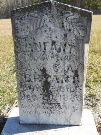 BRYANT, INFANT - Dallas County, Arkansas | INFANT BRYANT - Arkansas Gravestone Photos