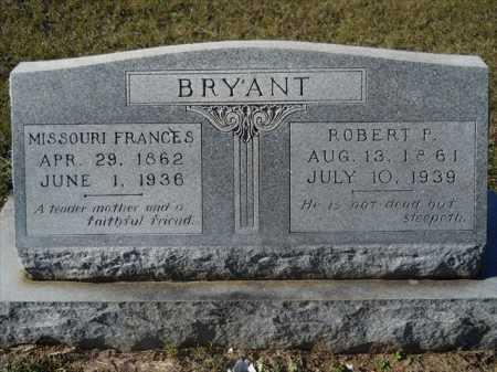 BRYANT, MISSOURI FRANCES - Dallas County, Arkansas   MISSOURI FRANCES BRYANT - Arkansas Gravestone Photos