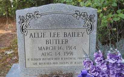 BUTLER, ALLIE LEE - Dallas County, Arkansas   ALLIE LEE BUTLER - Arkansas Gravestone Photos
