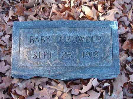 CROWDER, BABY - Dallas County, Arkansas | BABY CROWDER - Arkansas Gravestone Photos