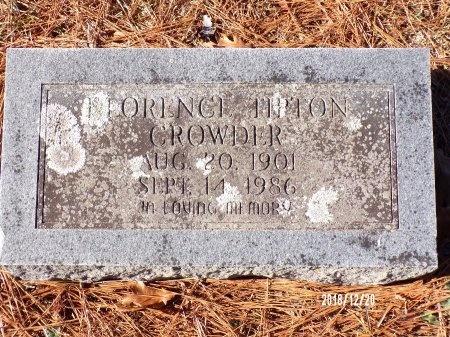 CROWDER, FLORENCE - Dallas County, Arkansas | FLORENCE CROWDER - Arkansas Gravestone Photos