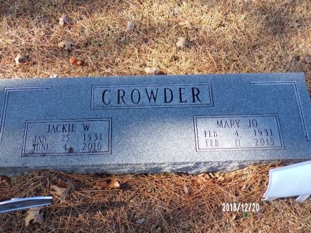 "CROWDER, MARY JOANNA ""JO"" - Dallas County, Arkansas 