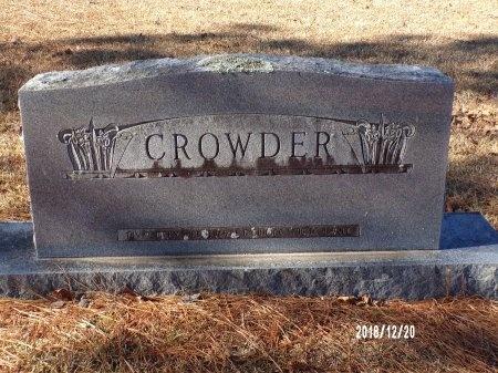 CROWDER, MEMORIAL - Dallas County, Arkansas | MEMORIAL CROWDER - Arkansas Gravestone Photos