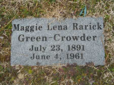 CROWDER, MAGGIE LENA - Dallas County, Arkansas | MAGGIE LENA CROWDER - Arkansas Gravestone Photos
