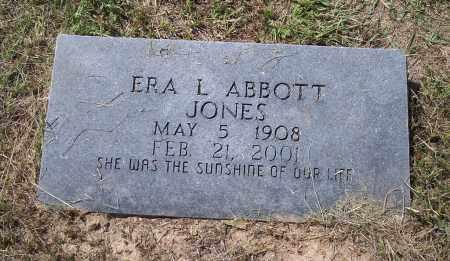 ABBOTT JONES, ERA L - Dallas County, Arkansas | ERA L ABBOTT JONES - Arkansas Gravestone Photos