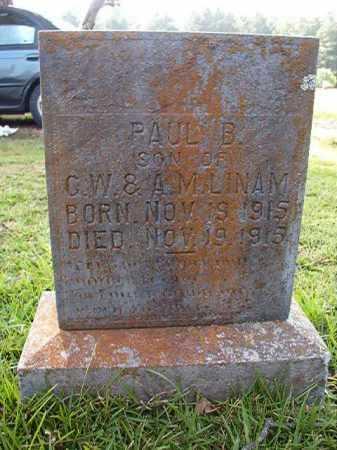 LINAM, PAUL B - Dallas County, Arkansas | PAUL B LINAM - Arkansas Gravestone Photos