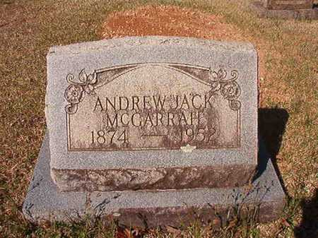 MCGARRAH, ANDREW JACK - Dallas County, Arkansas | ANDREW JACK MCGARRAH - Arkansas Gravestone Photos