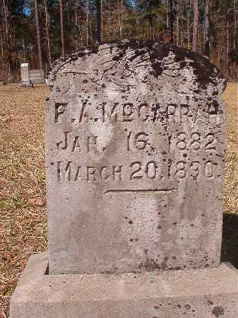 MCGARRAH, F A - Dallas County, Arkansas   F A MCGARRAH - Arkansas Gravestone Photos