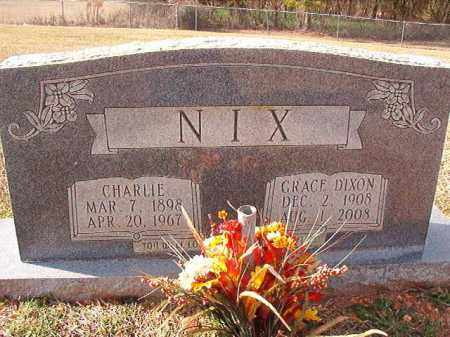NIX, CHARLIE - Dallas County, Arkansas | CHARLIE NIX - Arkansas Gravestone Photos