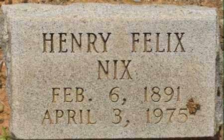 NIX, HENRY FELIX - Dallas County, Arkansas   HENRY FELIX NIX - Arkansas Gravestone Photos