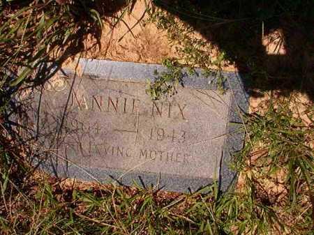NIX, JANNIE - Dallas County, Arkansas | JANNIE NIX - Arkansas Gravestone Photos